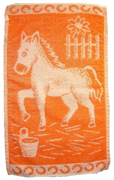 Dětský ručník Koník oranžový 30x50