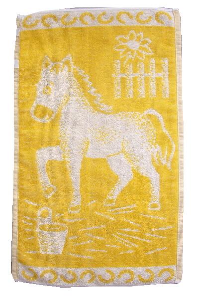 Dětský ručník Koník žlutý 30x50