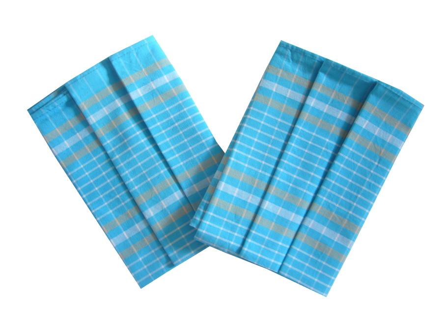 Utěrka Bavlna z egyptské bavlny 50x70 Kostka tyrkys 3 ks
