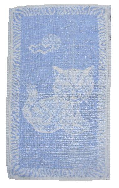 Dětský ručník Kotě světle modré 30x50