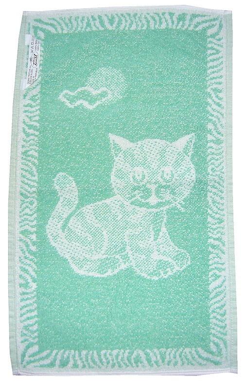 Dětský ručník Kotě světle zelené 30x50
