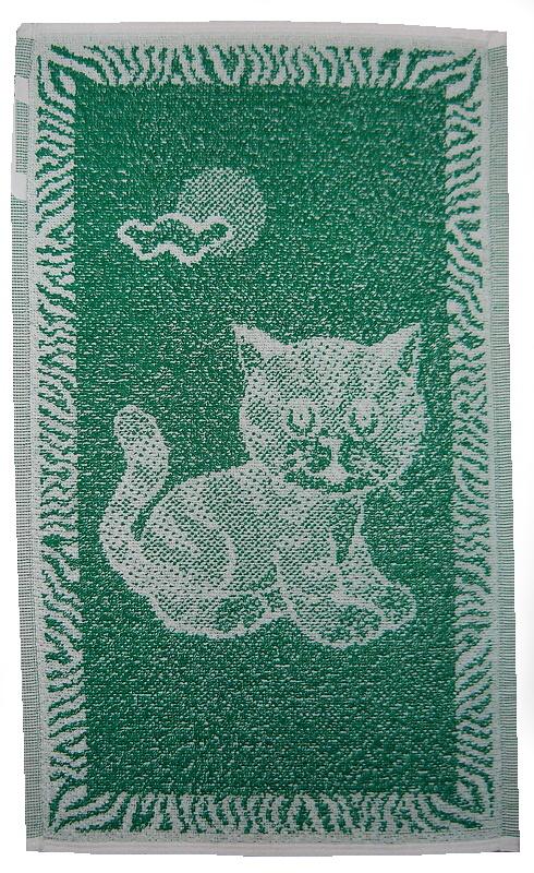 Dětský ručník Kotě tmavě zelené 30x50