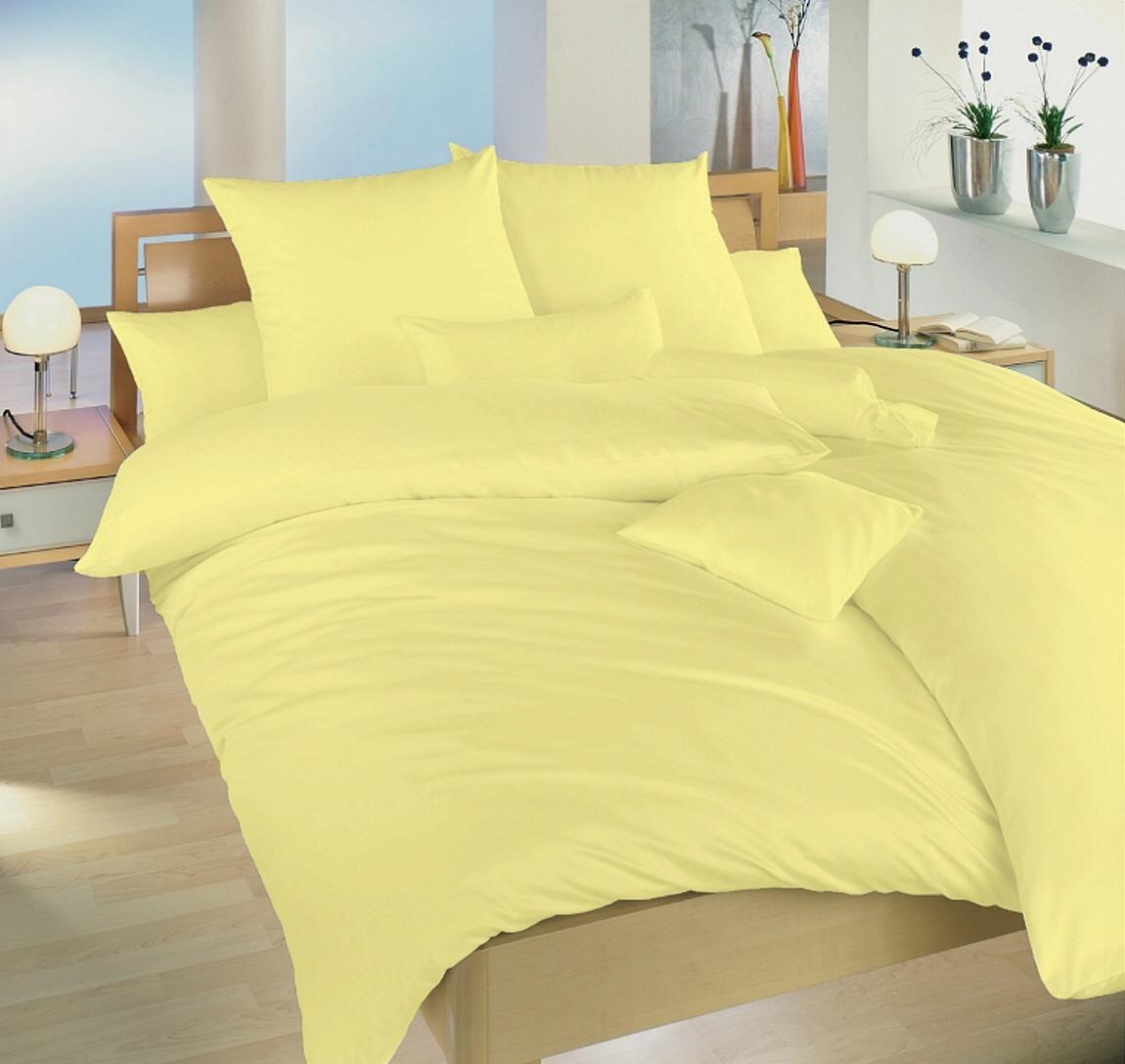 Povlečení krep žlutá UNI 240x200, 2x 70x90