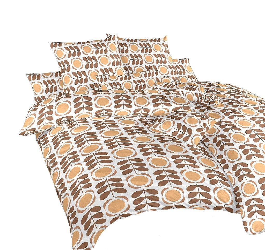 Povlečení krep Kytka nugát 240x200, 2x70x90 cm