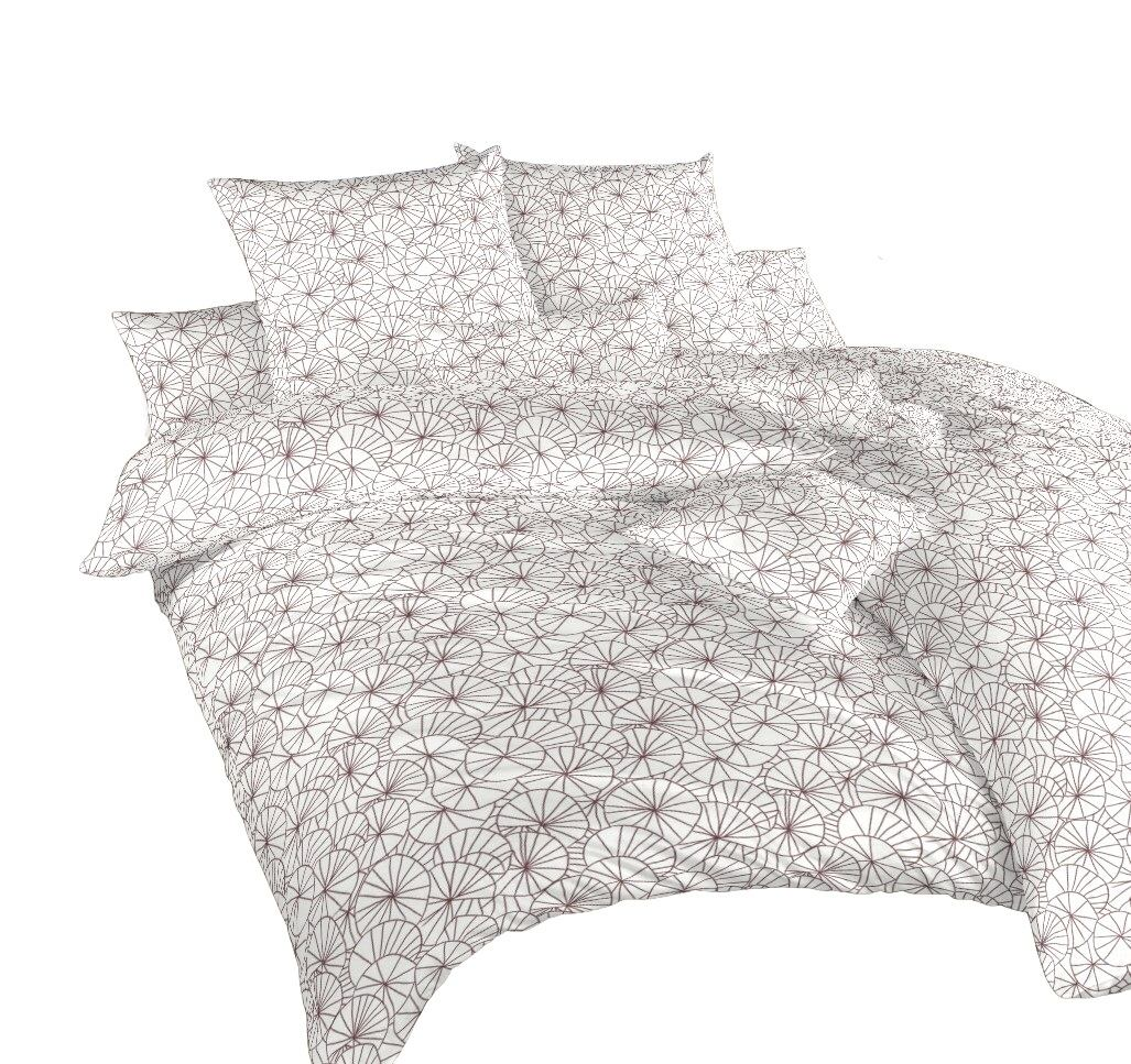 Povlečení bavlna Leknín bordó 240x200, 2x70x90 cm