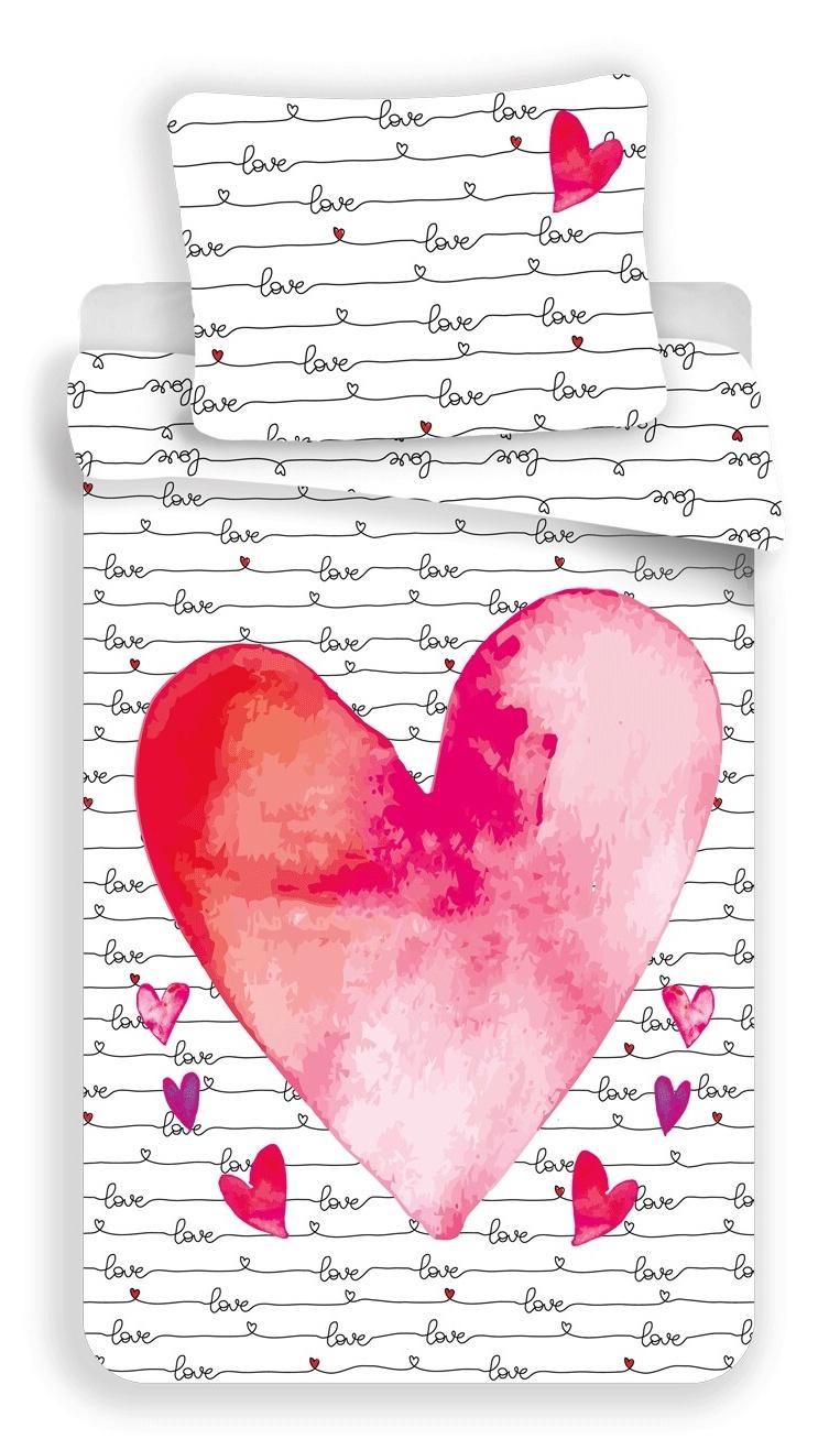 Povlečení fototisk Love 140x200, 70x90 cm