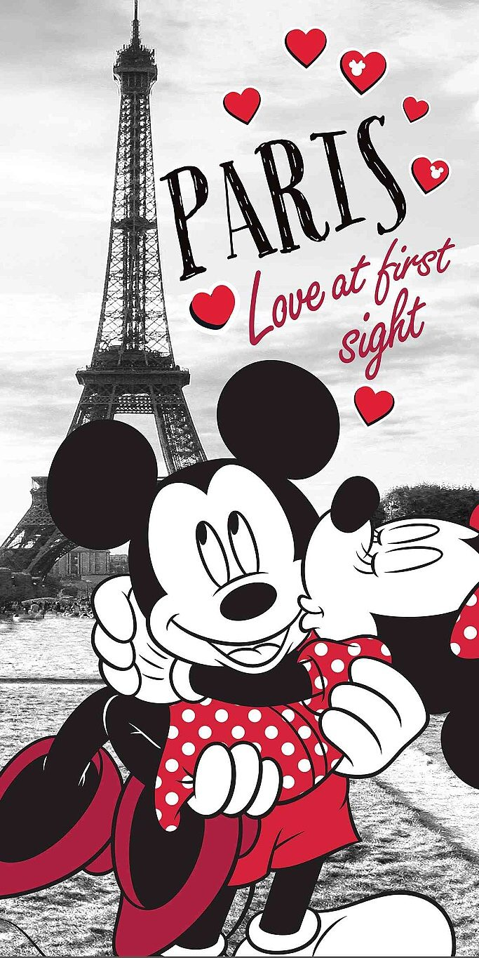 Osuška Mickey and Minnie in Paris 70x140 cm