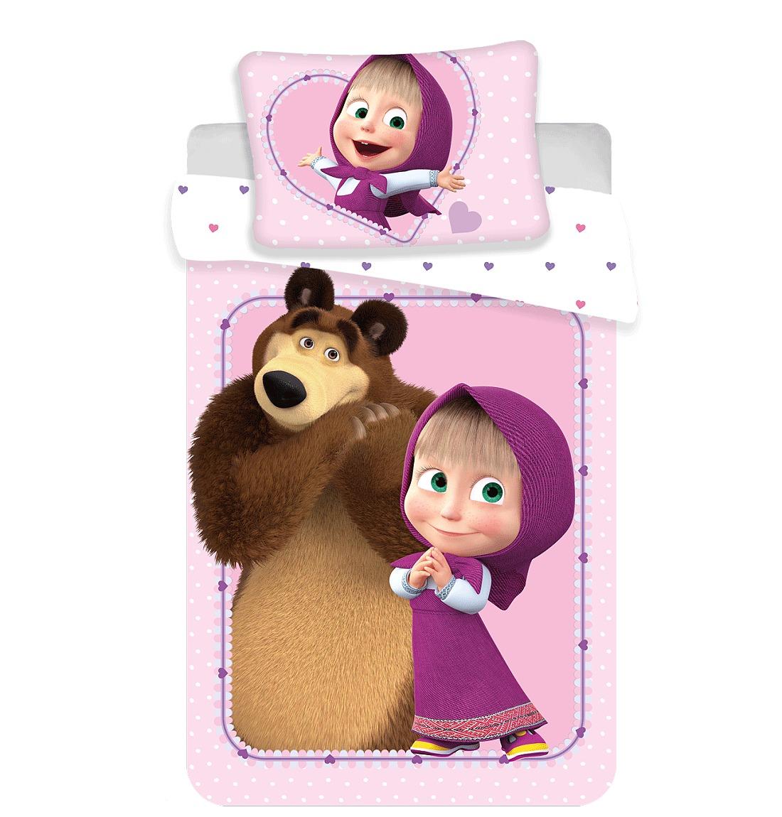 Disney povlečení do postýlky Máša a Medvěd baby 100x135, 40x60 cm