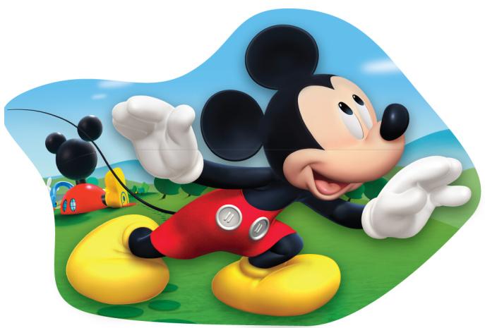 Tvarovaný plněný polštářek Mickey 22x36 cm