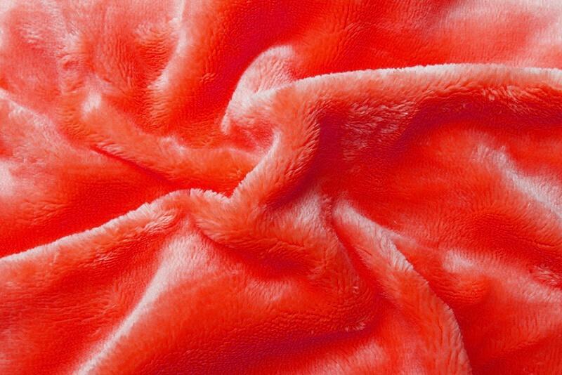 Prostěradlo mikroflanel oranžová (červený grep)  180x200x20 cm