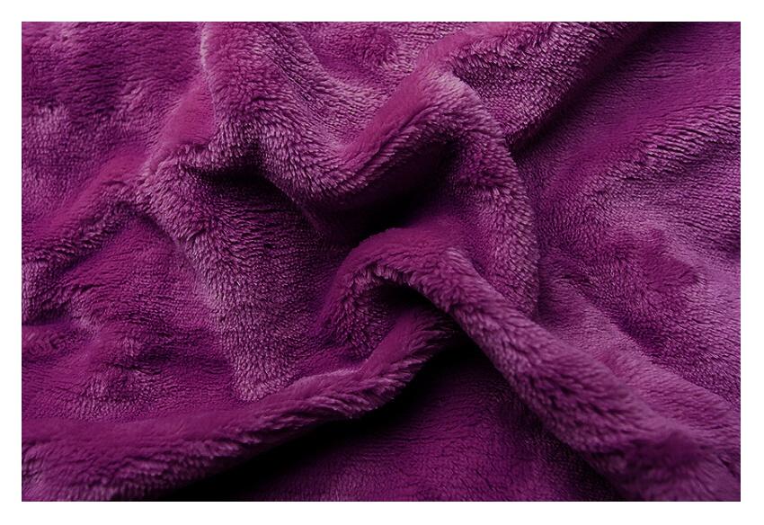 Prostěradlo mikroflanel fialová tmavá 180x200x20 cm
