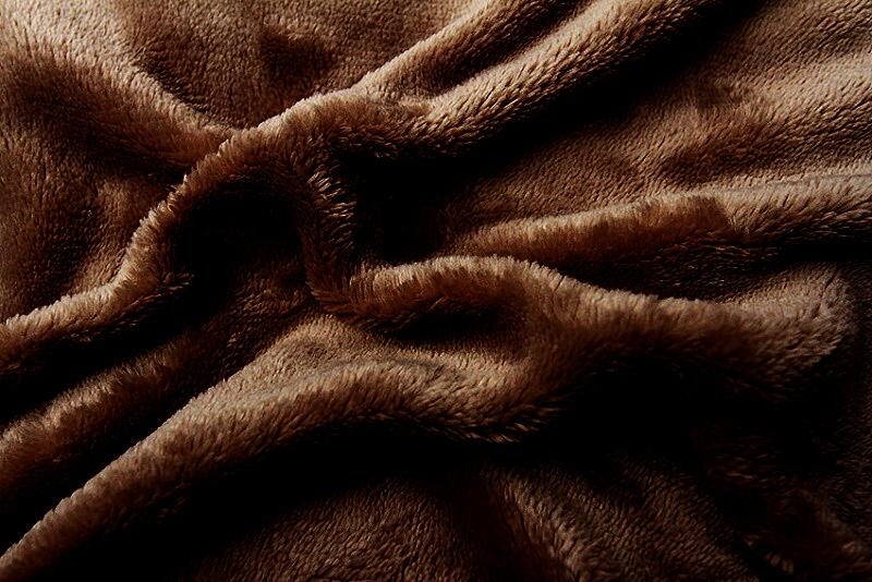 Prostěradlo mikroflanel hnědá (tmavě) 180x200x20 cm