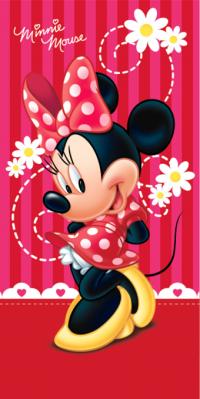 Plážová osuška Minnie pinkie red 2015 - 75x150 cm
