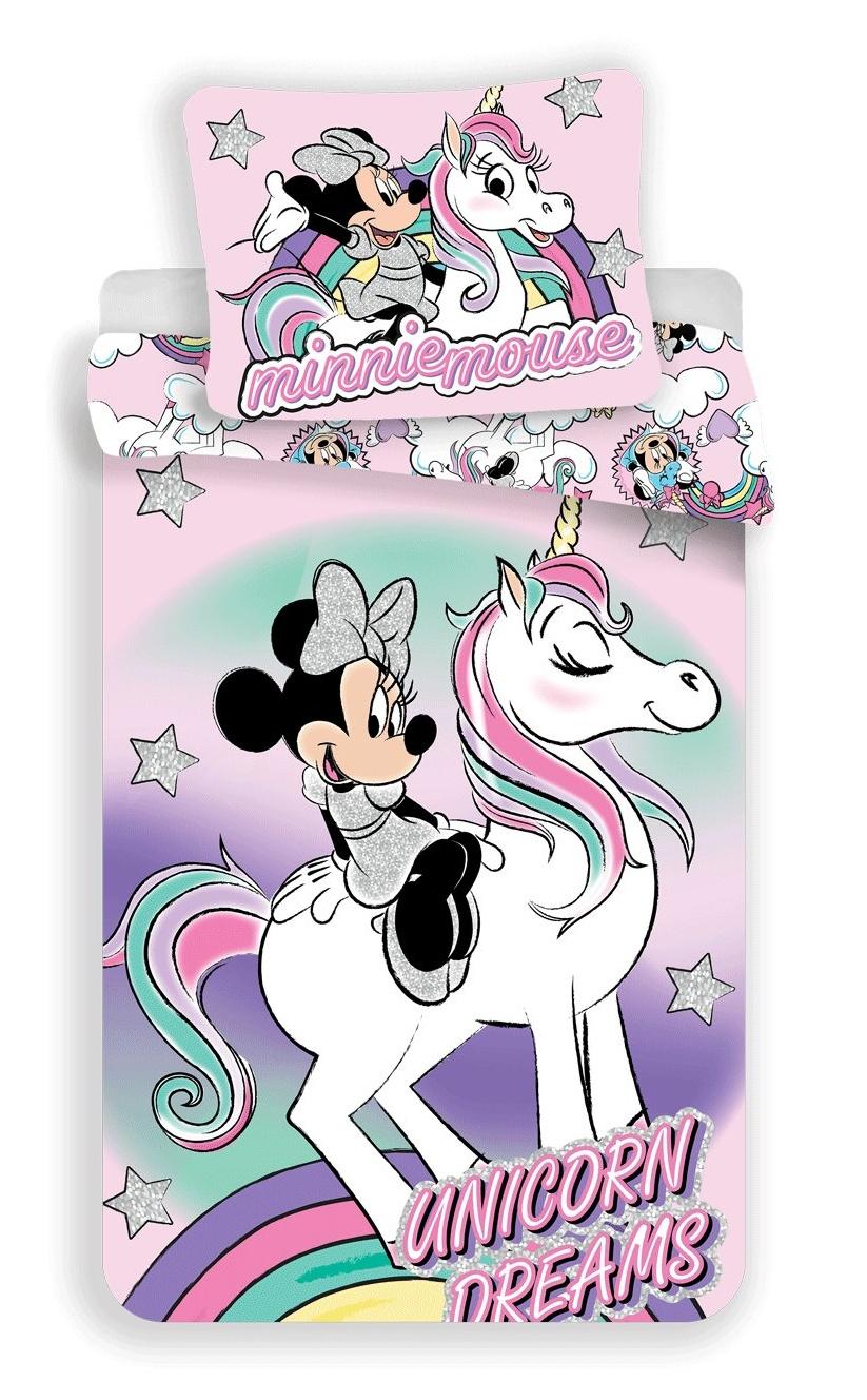 Povlečení Minnie unicorn 140x200, 70x90 cm