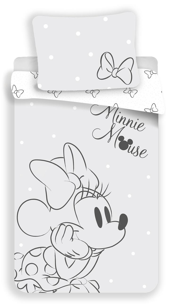 Povlečení Minnie Bows Grey 140x200, 70x90 cm
