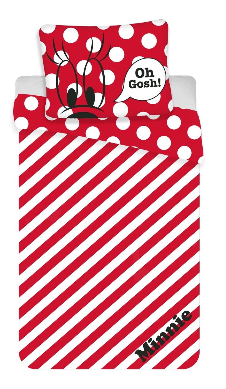 """Povlečení Minnie Red """"oh gosh"""" 140x200, 70x90 cm"""