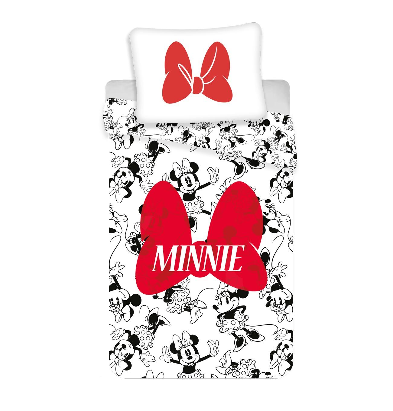 Povlečení Minnie red bow 140x200, 70x90 cm