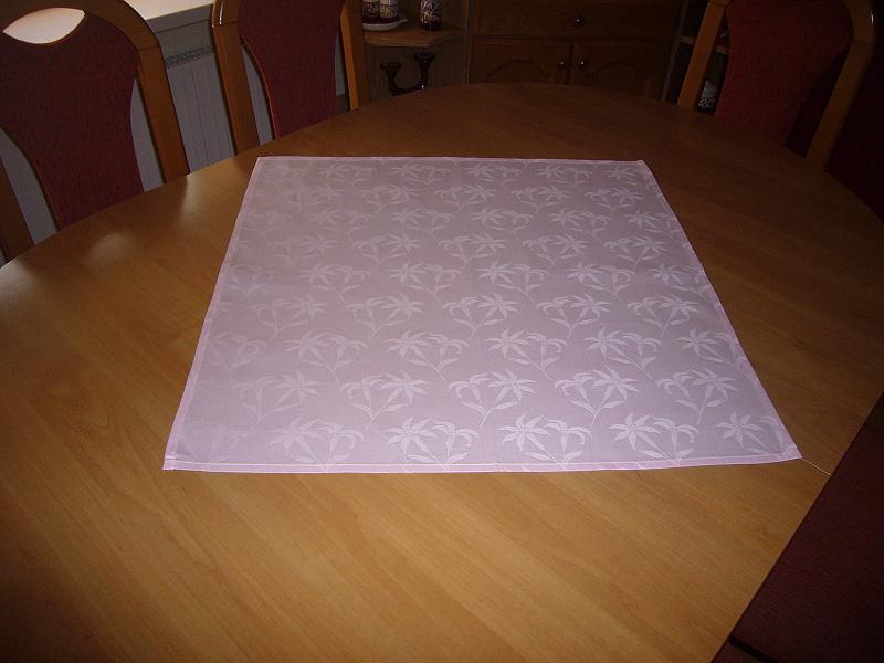 Napron = růžový 60 x 60 cm