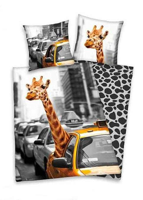 Povlečení Herding bavlna - New York žirafa