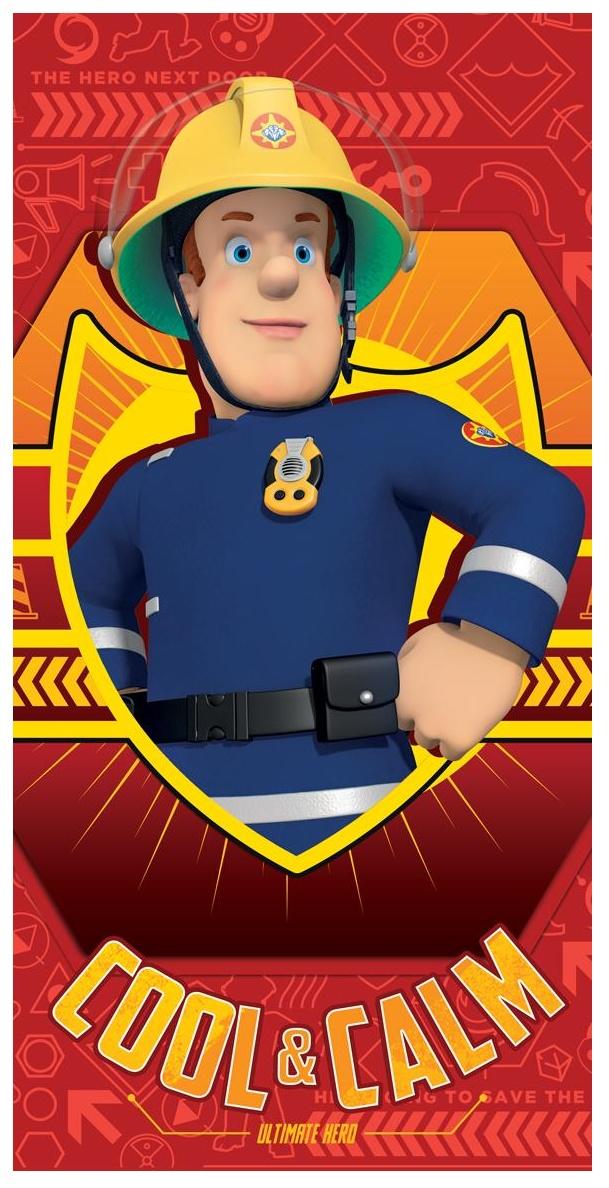 Osuška Požárník Sam red 70x140 cm