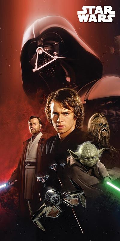 Plážová osuška Star Wars 01 - 75x150 cm
