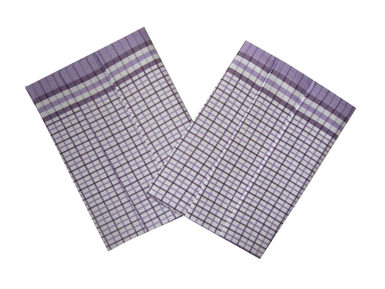 Utěrky Bambus Kostka malá fialová 50x70 cm balení 3 ks