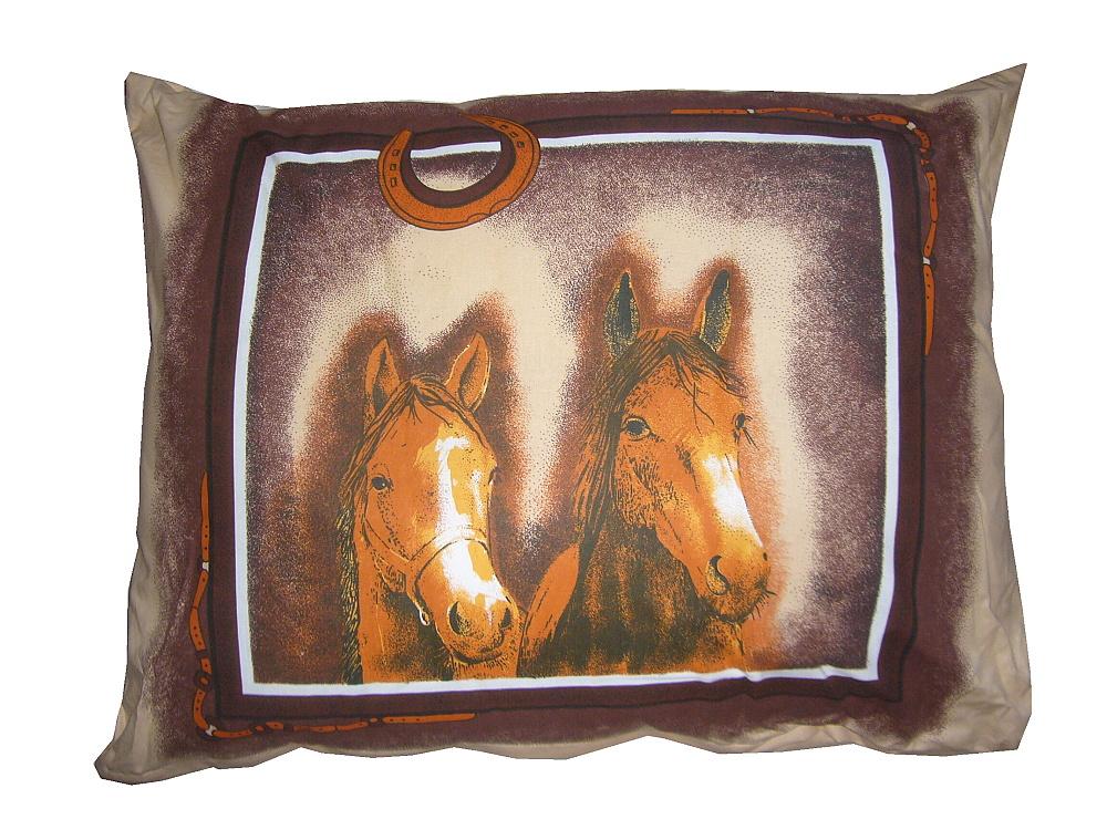 Plněný polštář Koně 70x90 cm