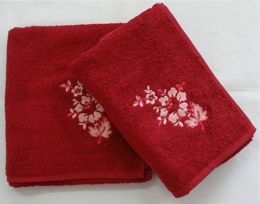Bambusový ručník Paloma 50x100 cm bordó