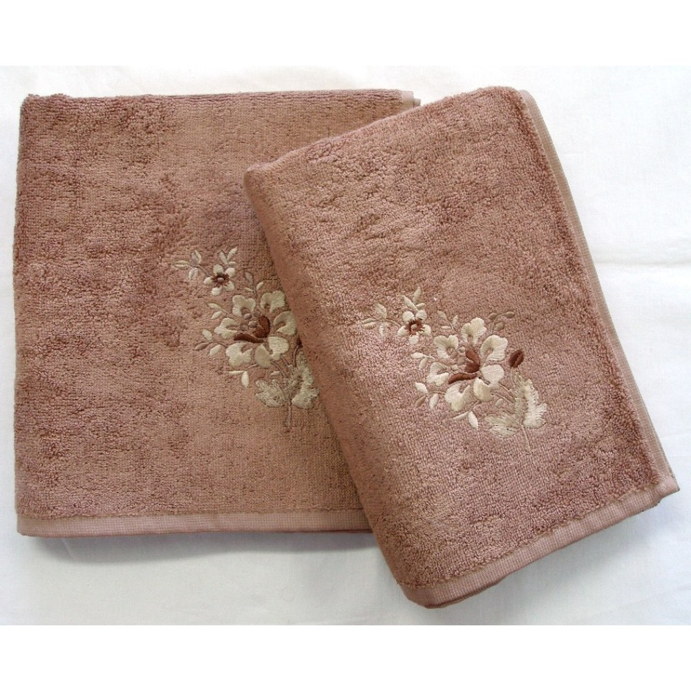 Bambusový ručník Paloma 50x100 cm oříšková