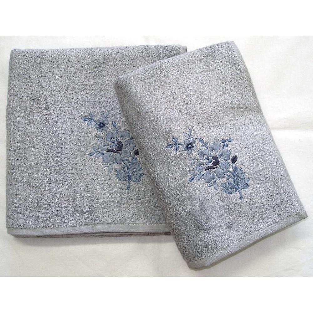 Bambusový ručník Paloma 50x100 cm šedá