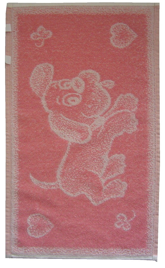 Dětský ručník Pejsek růžový 30x50