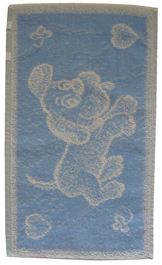 Dětský ručník Pejsek světle modrý 30x50