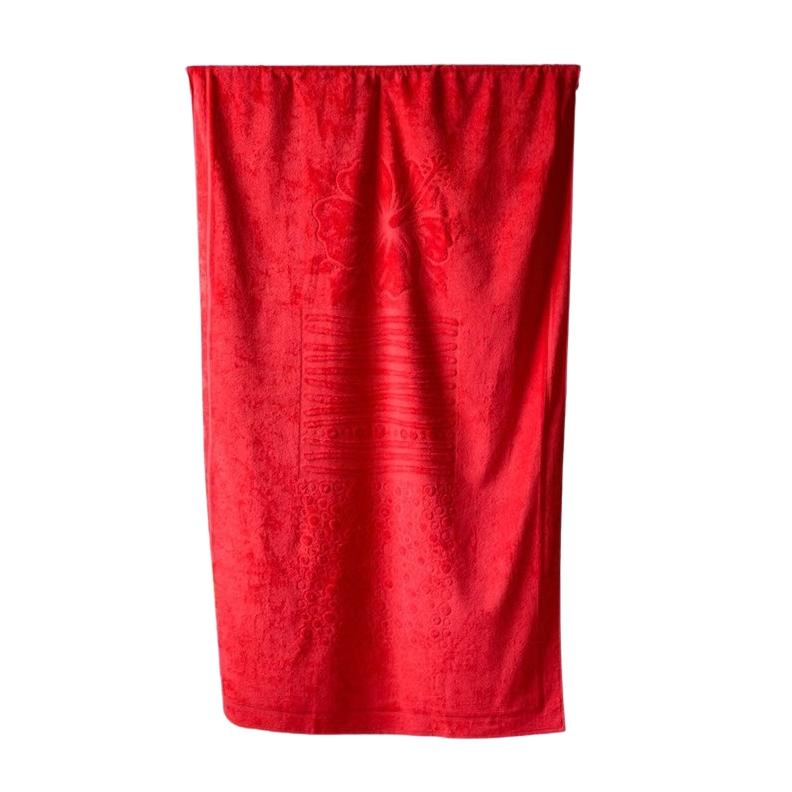 Plážová osuška Riviera 104x180 cm červená