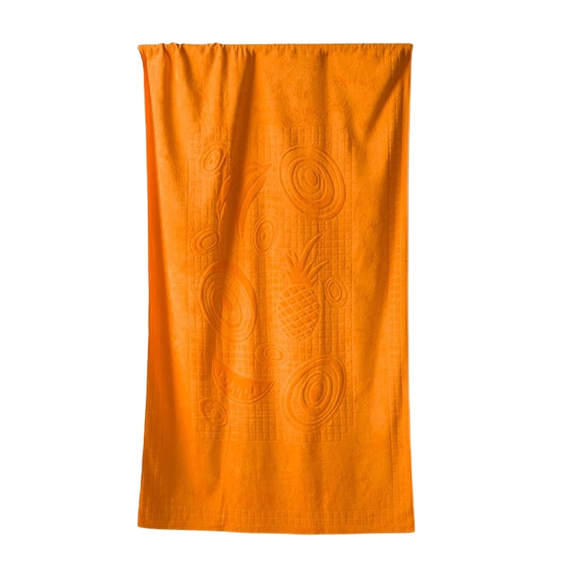 Plážová osuška Riviera 104x180 cm oranžová