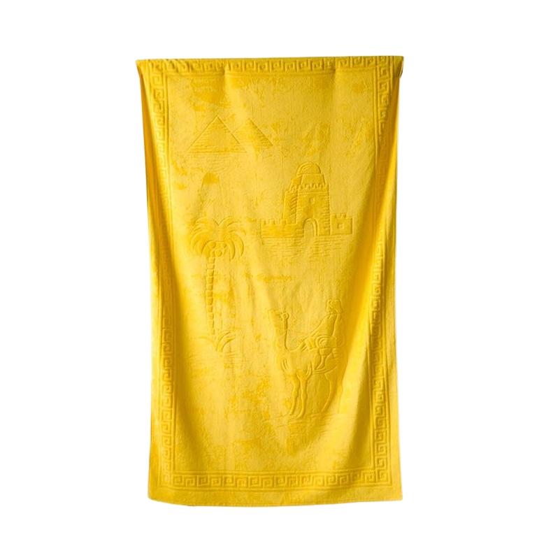 Plážová osuška Riviera 104x180 cm žlutá