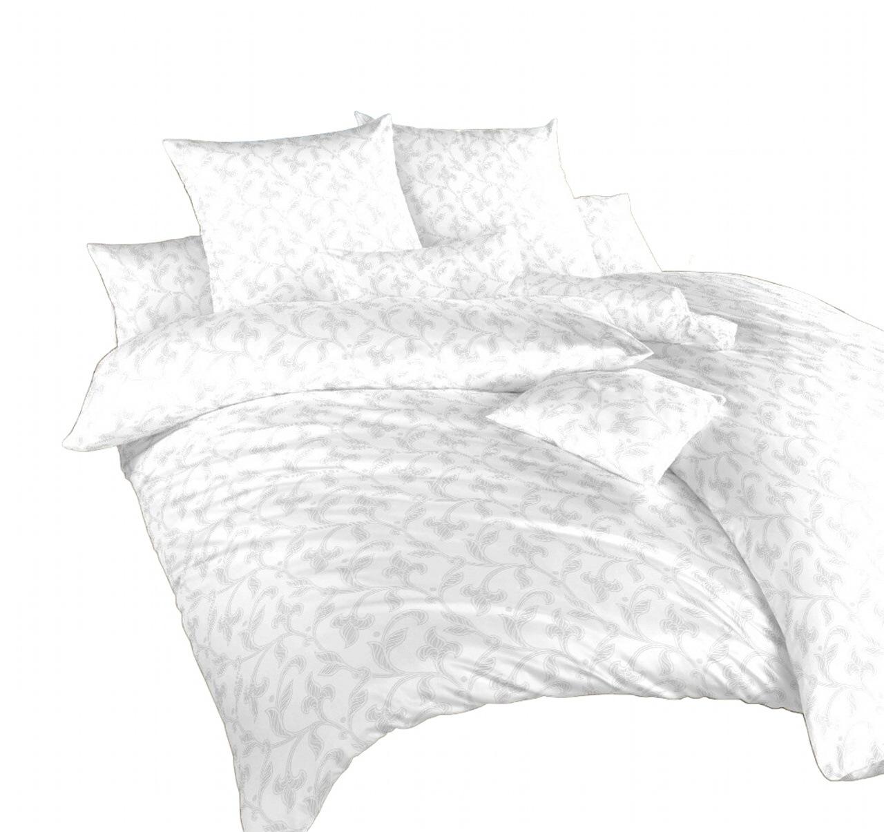 Povlečení damašek Rokoko bílé 140x200, 70x90 cm