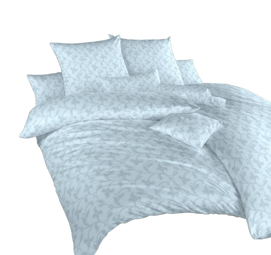 Povlečení damašek Rokoko modré 240x200, 2x70x90 cm