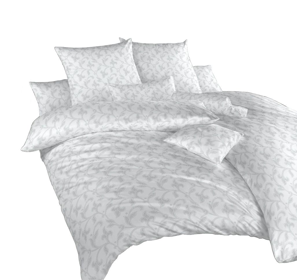 Povlečení damašek Rokoko šedé 70x90 cm povlak