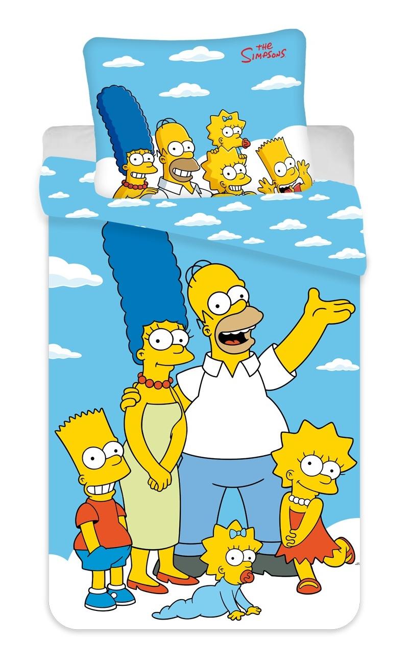 Povlečení Simpsons Family clouds 02 140x200, 70x90 cm