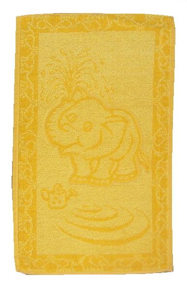 Dětský ručník Slůně žluté 30x50