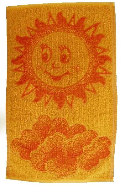 Dětský ručník Sluníčko oranžové 30x50