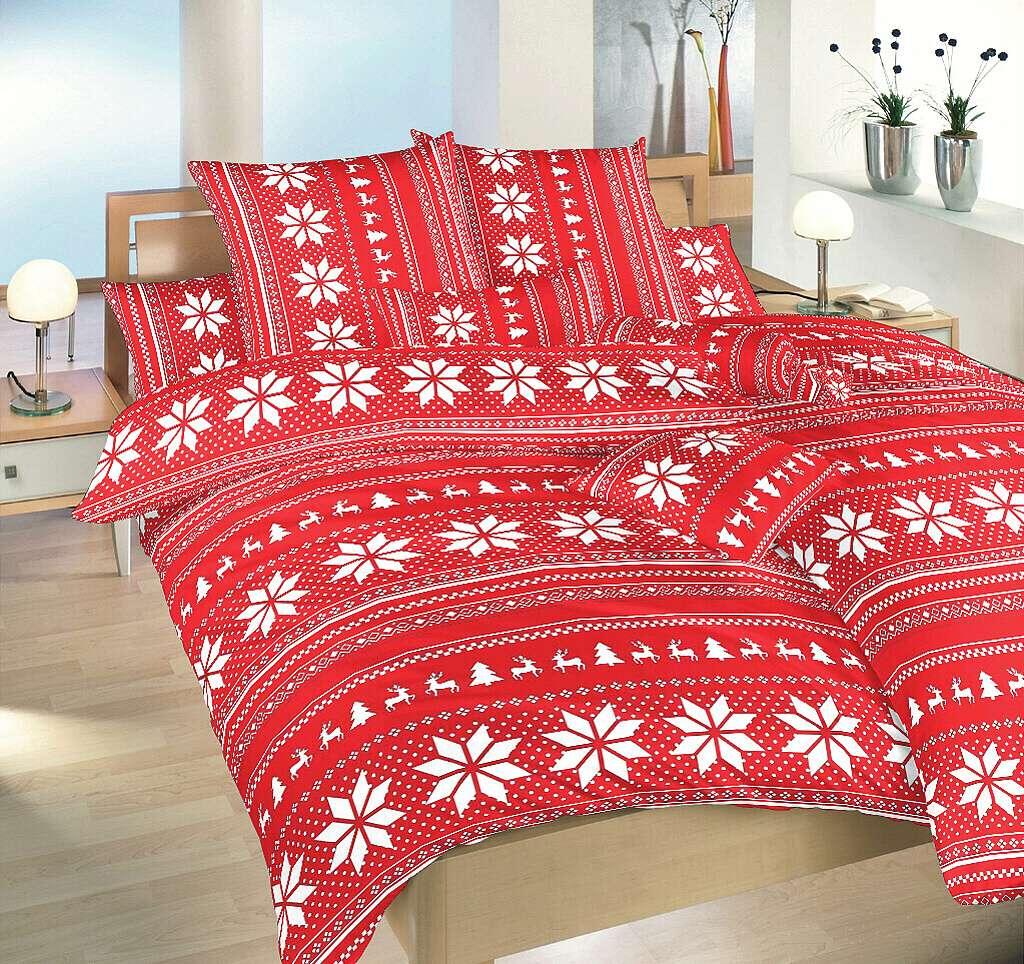 Povlečení bavlna Sobi červení 70x90 cm povlak