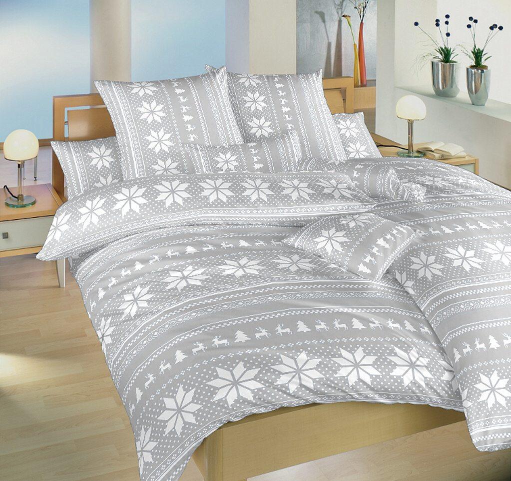 Povlečení bavlna Sobi šedí 140x200, 70x90 cm
