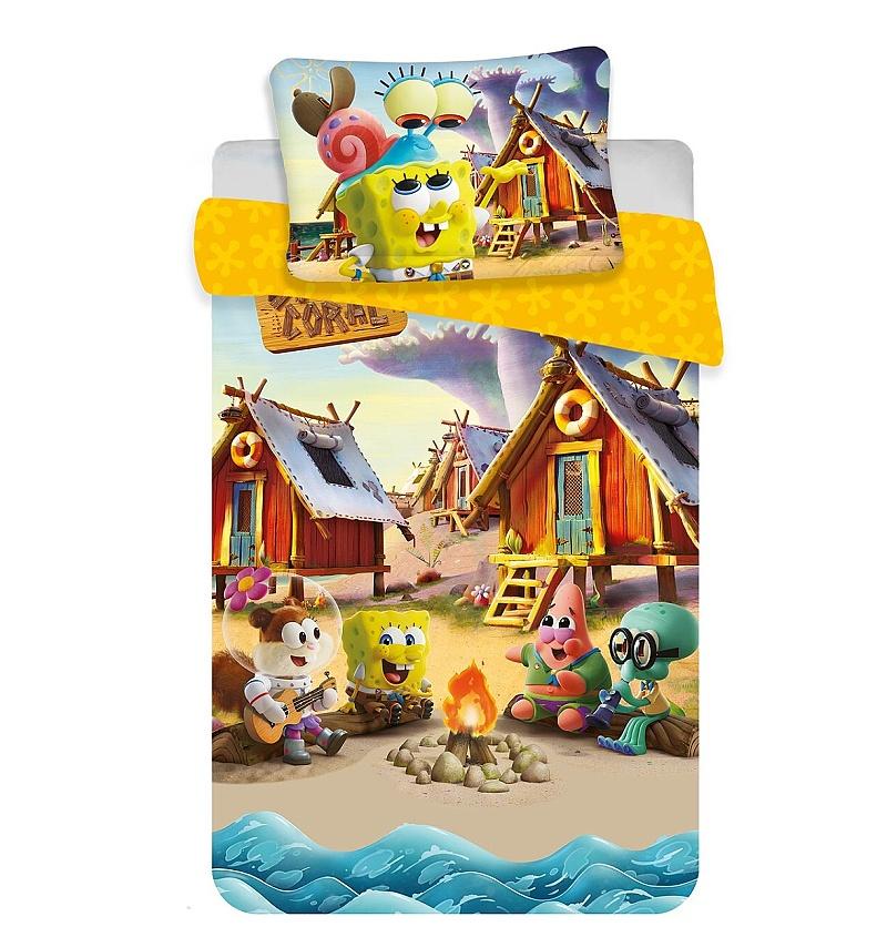 Disney povlečení do postýlky Sponge Bob baby 100x135, 40x60 cm