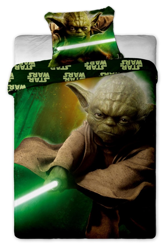 Povlečení bavlna Star Wars yoda 1x 140/200, 1x 90/70