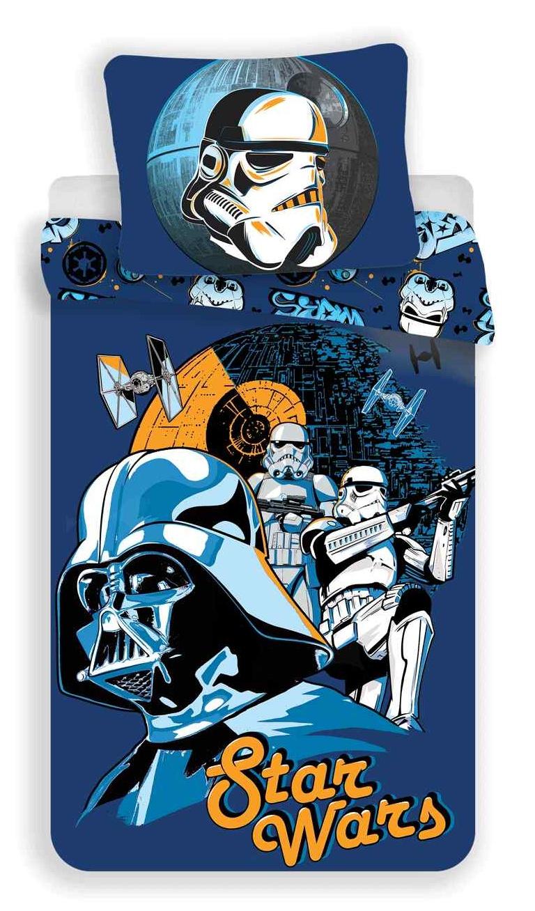 Povlečení bavlna Star Wars blue 140x200, 70x90 cm
