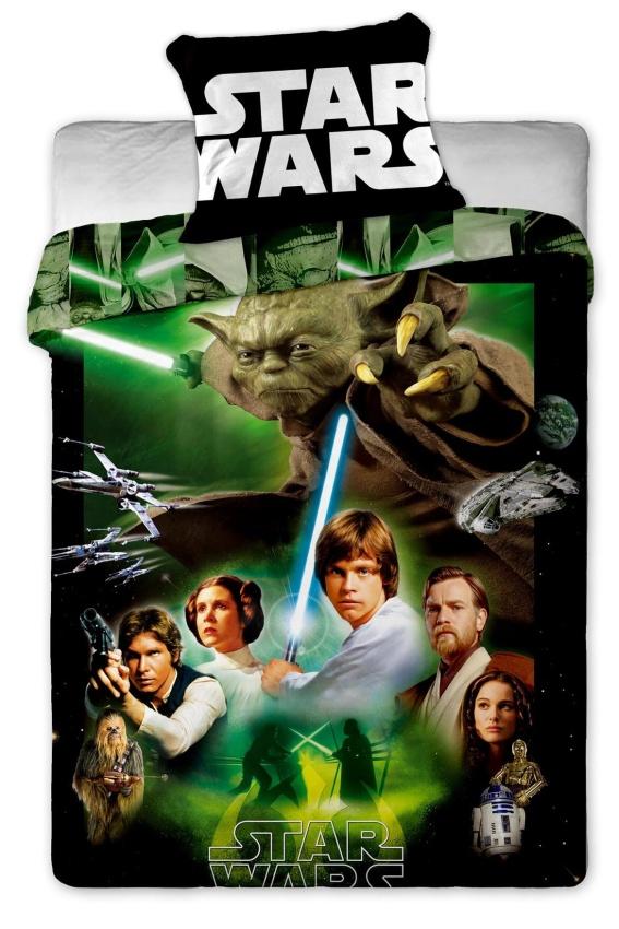 Povlečení bavlna Star Wars green 1x 140/200, 1x 90/70