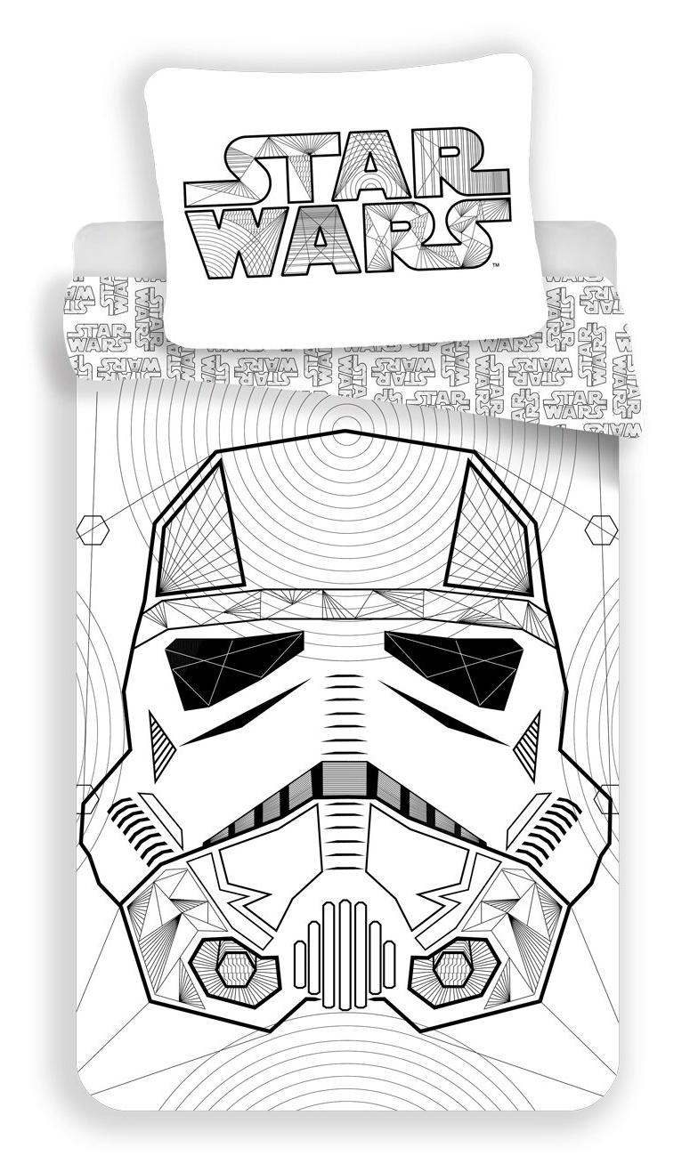 Povlečení bavlna Star Wars White 140x200, 70x90 cm