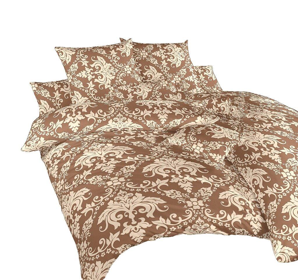 Povlečení krep Tapeta nugát 140x200, 70x90 cm