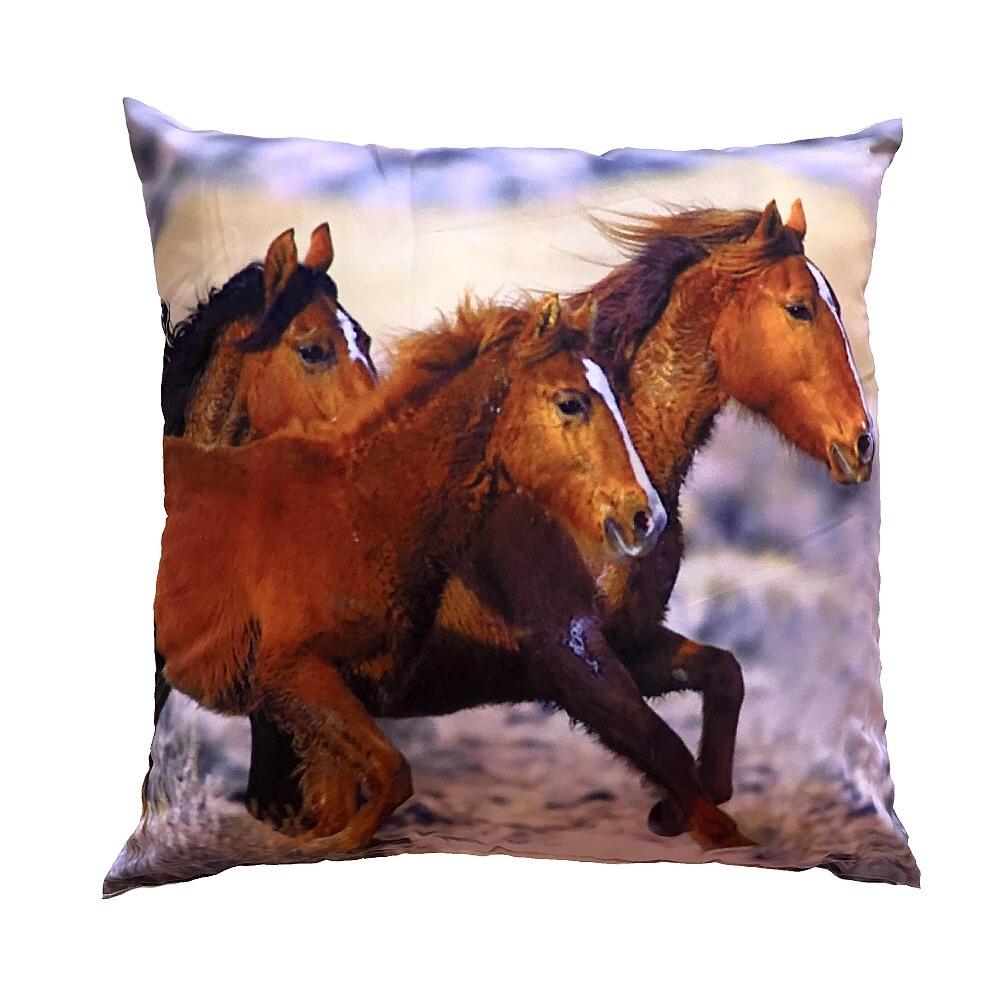 Fotopolštářek Tři koně 40x40 cm